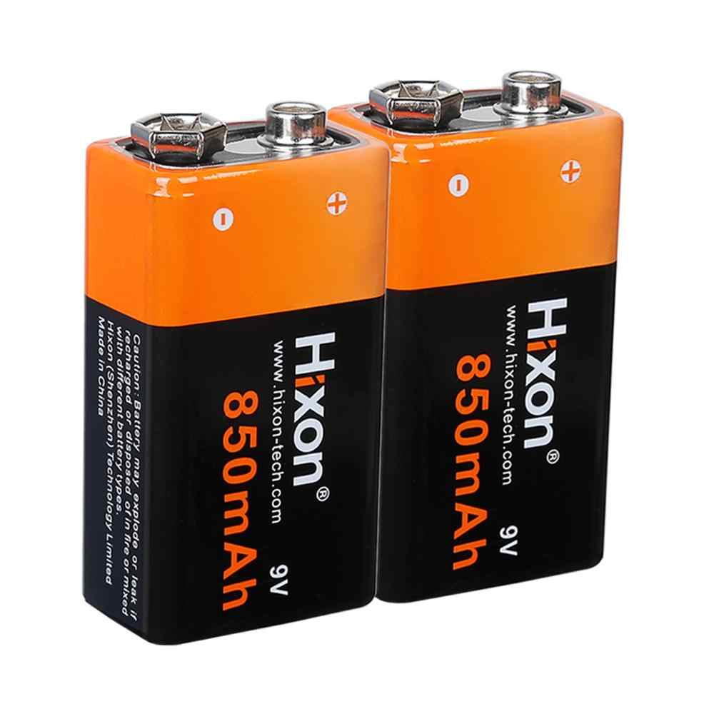 9v 850mah Rechargeable Li Ion Battery And Charger For Smoke