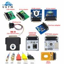 Iprog adaptador para iprog + iprog programador substituição rfid/can bus/K-LINE/mb ir/pcf79xx/5 peças sondas/35080/160 adaptador de borracha