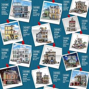 Voorverkoop Moc Streetview De Brickstive Postkantoor Speelgoed Vierkante Oceaan Museum Modulaire Model Bouwstenen Bakstenen Kinderen Speelgoed Geschenken