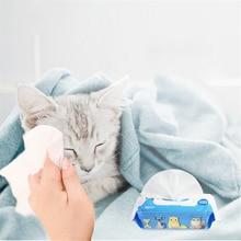 80 шт., влажные салфетки для глаз домашних животных, чистящие бумажные полотенца для собак, для удаления пятен с кошачьими разрывами, мягкие, не запутывающие, чистящие салфетки, принадлежности для ухода