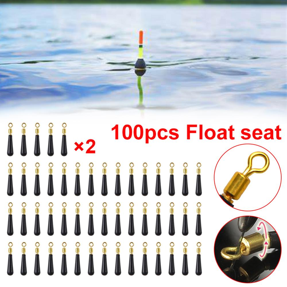 10/50/100Pcs Fishing Floats Stopper Adapter Fishing Float Seat Socket Fishing Accessories Rubber Clips for Fishing Bobbers Size