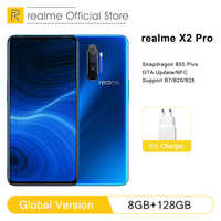 Global Version realme X2 Pro 8GB RAM 128GB ROM Mobile Phone Snapdragon 855 Plus 64MP Quad Camera NFC Cellphone 50W Fast charger