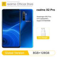 Version mondiale realme X2 Pro 8GB RAM 128GB ROM téléphone portable Snapdragon 855 Plus 64MP Quad caméra NFC téléphone portable 50W chargeur rapide