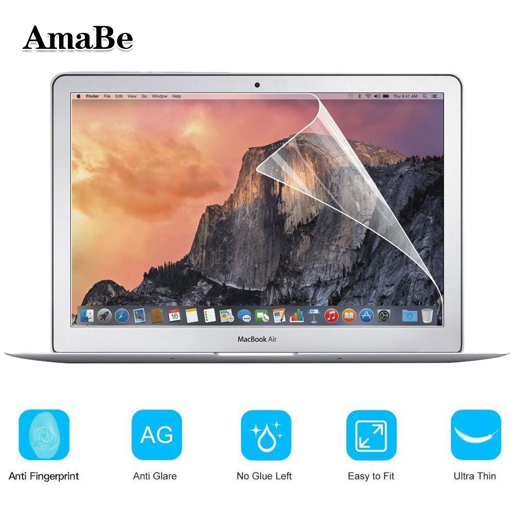 AmaBe For Apple Macbook Air 11 Inch (A1370 A1465) With Retina Display Crystal Clear Lcd Guard Film Screen Film Protector