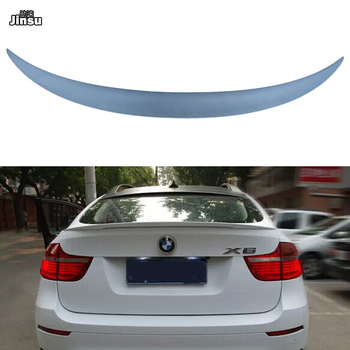 For BMW X6 35i 40i 50i xDrive 2008-2013 Performance style Fiber glass primer rear trunk spoiler lip E71 P styling back wing image