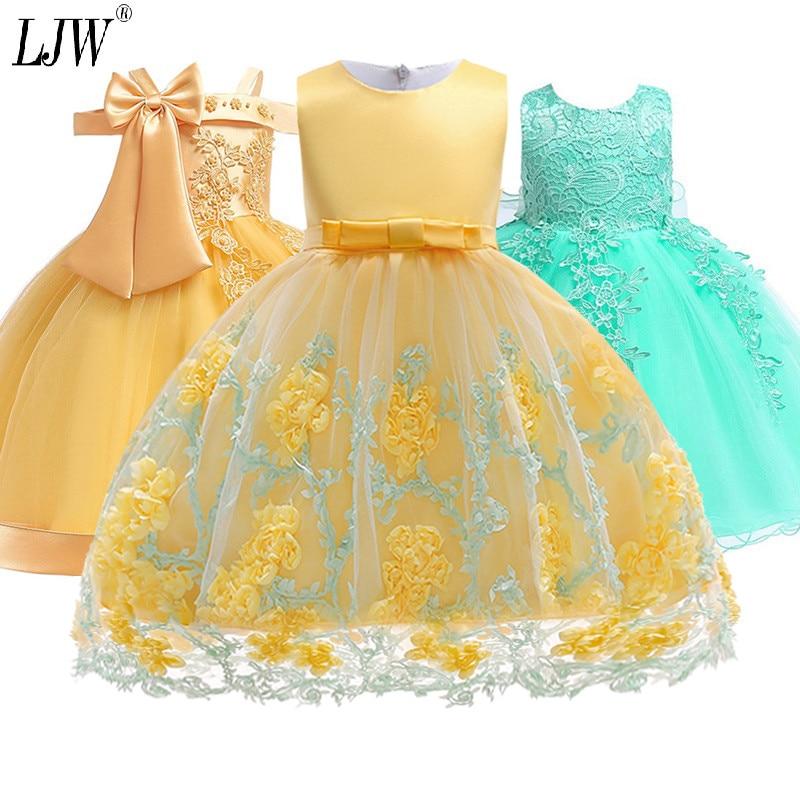2019 Kids Tutu Birthday Princess Party Dress for Girls Infant Lace Children Bridesmaid Elegant Dress for Innrech Market.com