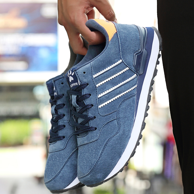 Men Casual Shoes Light Artificial Leather Sneakers 2019 New Autumn Comfort spring Outdoor Breathable Casual Flats Shoes Men(China)
