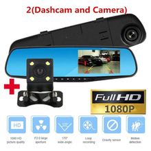 HD 1080P Car Dvr Camera Auto 4.3 Inch Rearview Mirror Digital Video Recorder Dual Lens Registratory Camcorder Car Electronics
