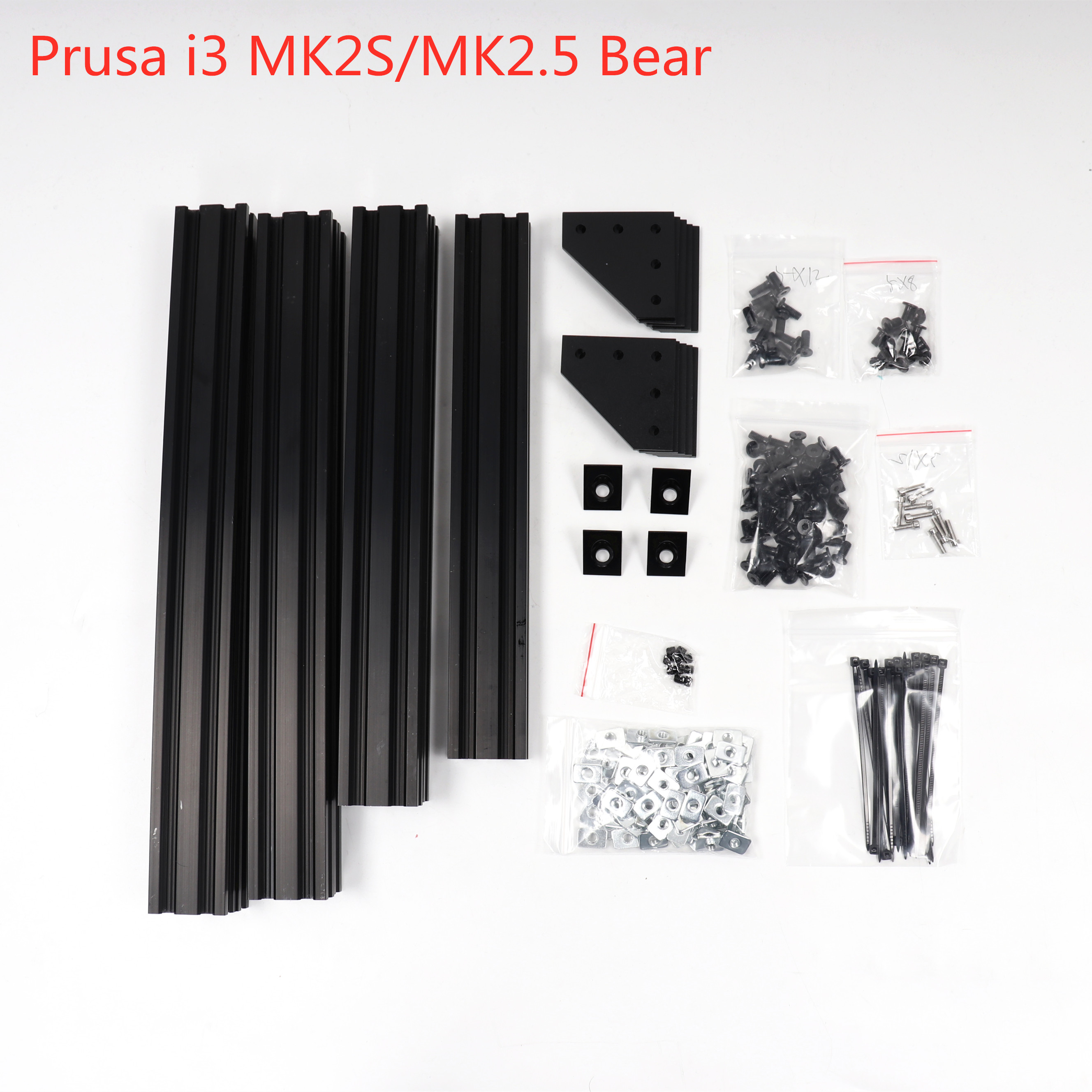 Affortable Black Prusa I3 MK2S/MK2.5  Bear Upgrade Kit 2040 Extrusions