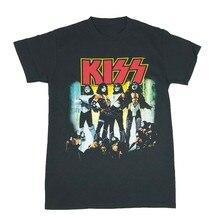 Kiss Band Rock And Roll Gene Simmons Paul Stanley Graphic Tee MenS T Shirt Harajuku Tops Fashion Classic Tee Shirt