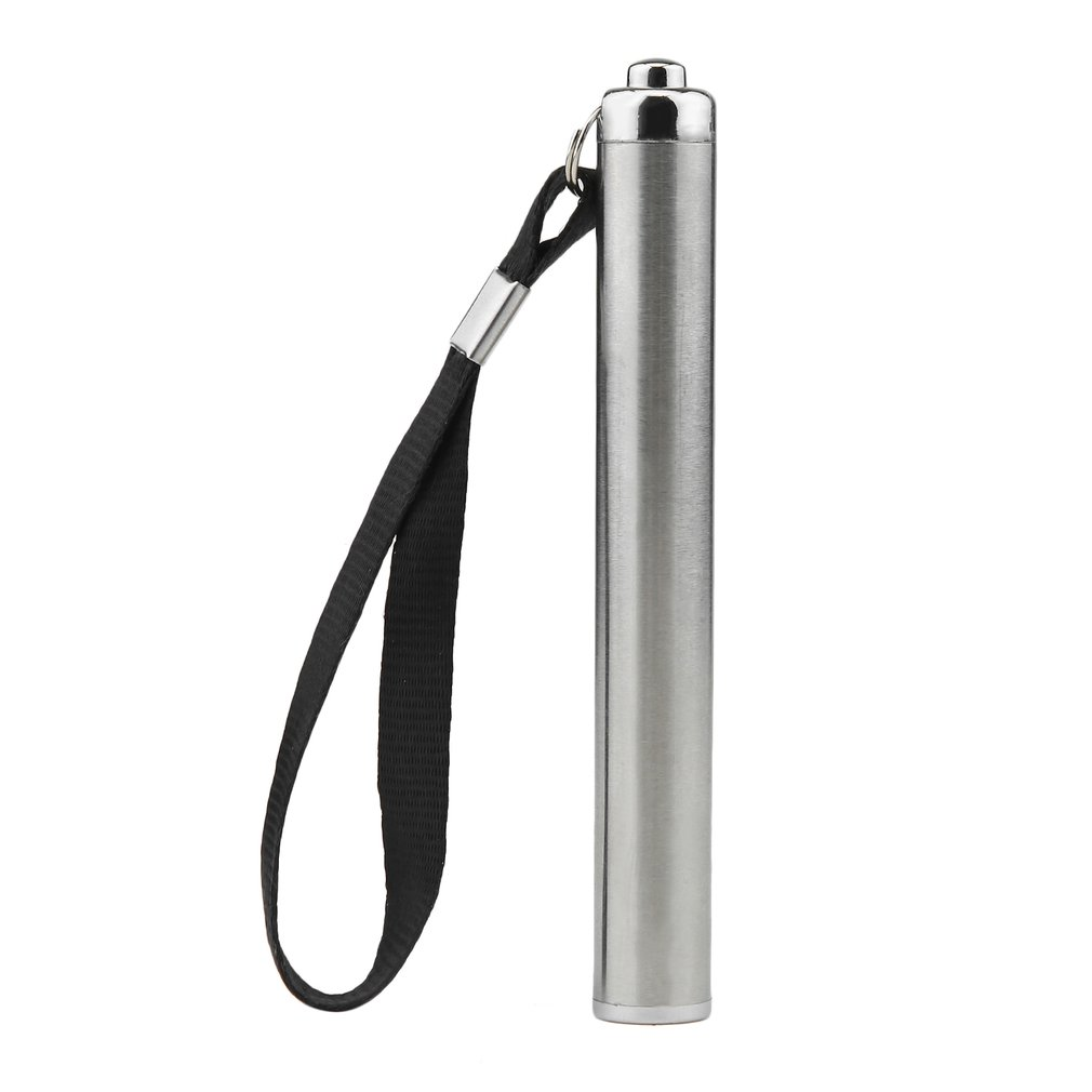 Waterproof Stainless Steel Mini Penlight LED Flashlight Battery Torch Portable Lantern Bright Light Small Size Convenient