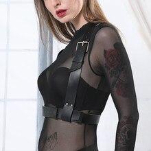 UYEE femmes sous-vêtements ceinture bas Sexy en cuir harnais corps Bondage jarretelles Cage soutien-gorge bretelles taille large sculptures LB-009