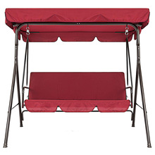 2pcs set Oxford Cloth Dustproof Canopy Outdoor Decor Garden Chairs Waterproof Sunproof Patio Swing Seat Cover Replacement Parts cheap Manual Other