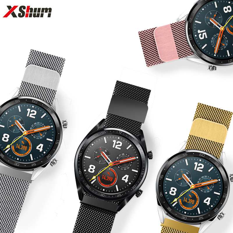 Strap For Huawei Watch GT/GT2 Strap Bracelet 46mm 42mm Metal Band For Huawei GT 2 Watchband Accessories Smart Bracelet Wrist