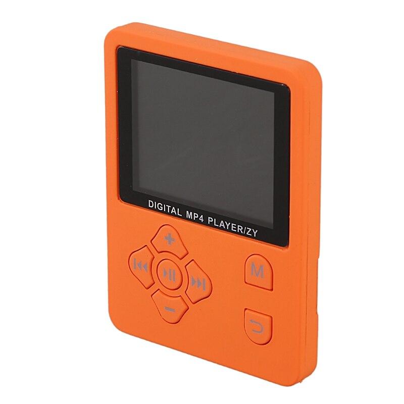 ABHU-1.8 Inch Lcd Screen Mp3 Mp4 Player Support Up To 32Gb Tf Memory Card Hi Fi Fm Radio Mini Usb Music Player Walkman(Orange)