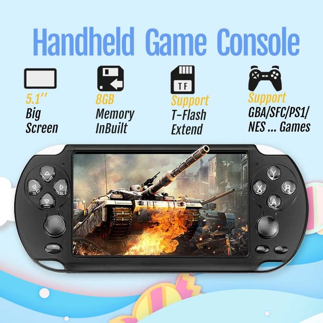 Handheld Game Console With 5.1 inch LCD Portable Retro Video Console for Kids & Adults X9s Game Player