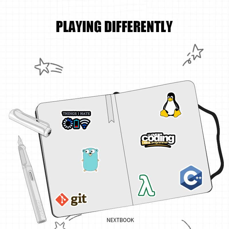 50 قطعة ملصقات برمجة تكنولوجيا البرمجيات برامج البيانات ملصقات الكمبيوتر ل Geek لتقوم بها بنفسك للكمبيوتر المحمول الهاتف PS4