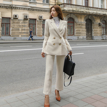Korean womens suits set 2 pieces slim suit women suits pants suits elegant woman pantsuit women office suit pant suits for women