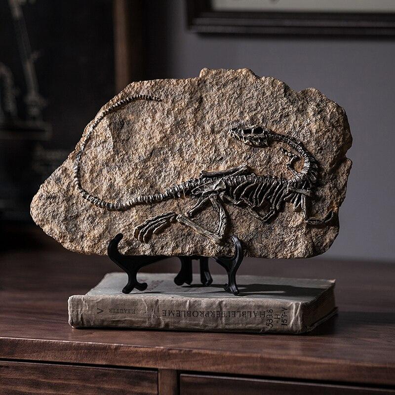 Figurines fossile de dinosaure en résine | Accessoires de décoration de bureau pour la maison, sculpture de crâne de dinosaure, ornement de décoration de salle pour la maison | AliExpress