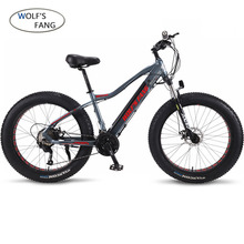 wolf's fang Electric Bike 48V 500W Motor 10/13Ah 27 speed Aluminum Folding Electric Bicycle hidden lithium battery electric bike mountain bike fat 48v 500w samsung lithium battery electric bicycle 10 an large capacity 27 speed 26 x 4 0 electric snow bike