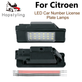 цена на 2Pc LED License Number Plate Light Lamp For Citroen C2 C3 C4 Picasso C5 C6 C8 DS3 DS5 Berlingo Evasion Citroen C-Elysee