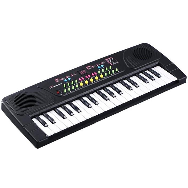 Eletrônico com Microfone Teclas de Música Multifuncional Mini Piano Crianças Portátil 37 Digital Teclado Electone Mod. 312426