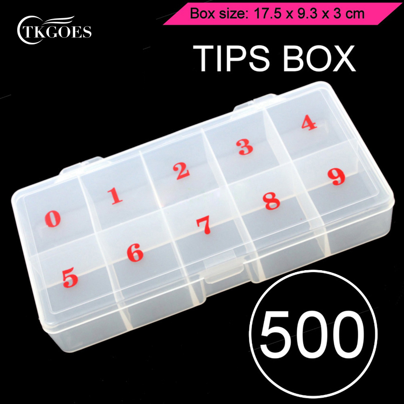 Adjustable Jewelry <font><b>Tool</b></font> <font><b>Box</b></font> Beads Pills Organizer Nail <font><b>Art</b></font> Tip Storage <font><b>Box</b></font> Case Hard Transparent Plastic Storage <font><b>Box</b></font> 10 Grids image