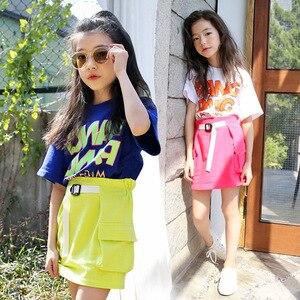 Юбка для девочек Летняя коллекция 2020 года, Новая повседневная юбка средней длины хлопковая юбка для девочек детская юбка для малышей милая ...