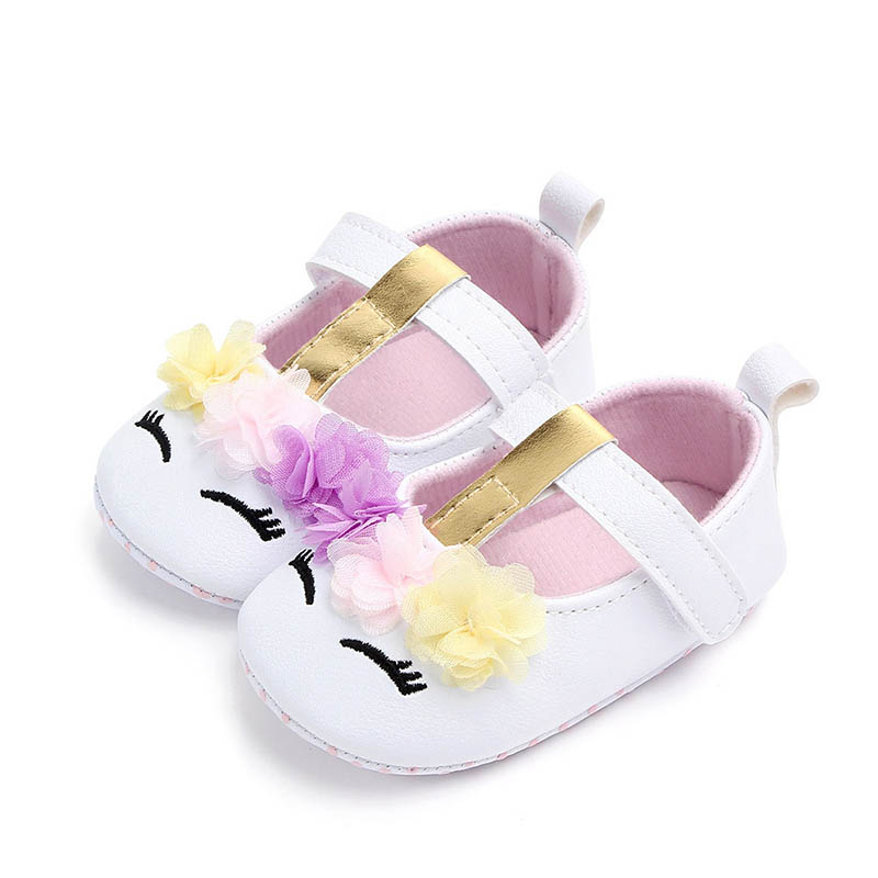 I Love Daddy&Mummy Cute Unicorn Flower Baby Girl Shoes Soft Bottom Anti-slip Todder Shoes Newborn First Walker Shoes | Happy Baby Mama