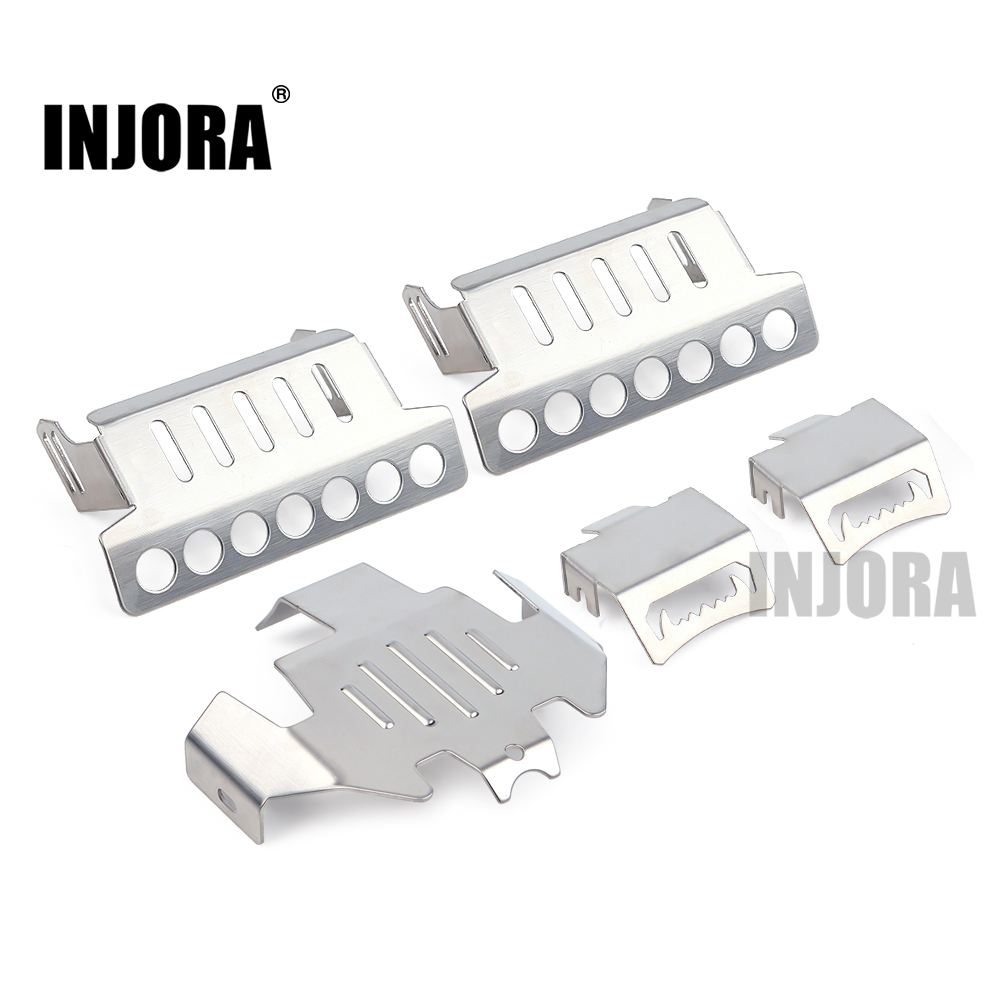 INJORA Metal Axle Protector Chassis Armor Plate For 1/10 RC Crawler Traxxas TRX4 Trx-4 Upgrade Part