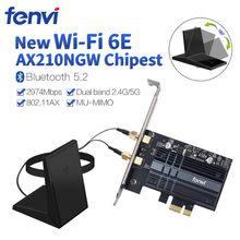 Fenvi двухдиапазонный Wi-Fi 6E 802.11AX беспроводной PCIe Wi-Fi адаптер 2,4G/5G/6 ГГц AX210NGW для настольного ПК Intel AX210 карта Bluetooth 5,2