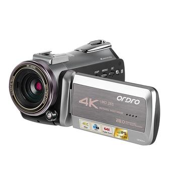 Digital Professional Video Camera Real 4K Wifi 64X Digital Zoom 30FPS Night Vision Camcorder ORDRO AZ50 For Live Broadcast