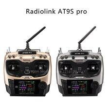 Radyolink AT9S Pro 12 kanal 2.4G RC verici radyo denetleyici desteği Crossfire protokolü ile RX R9DS Drone için sabit kanat