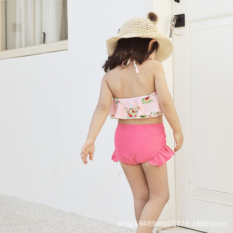 New Style KID'S Swimwear South Korea GIRL'S One-piece Swimsuit Large Children GIRL'S Cute Dress-Tour Bathing Suit