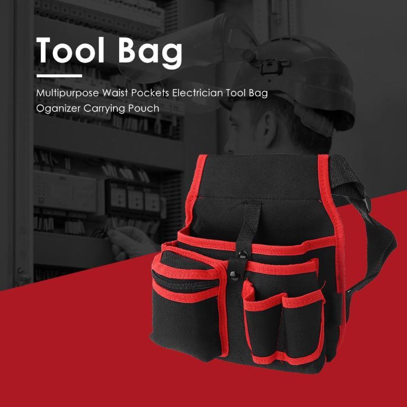High Capacity Tool Bag Waist Pockets Electrician Tool Bag Oganizer Carrying Pouch Tools Bag Belt Waist Pocket Case Multipurpose