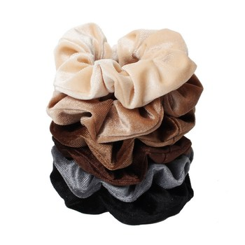 6pcs Velvet Scrunchies Wholesale Elastic Hair Bands for Women Solid Color Girls Ponytail Holder Hair Ties Hair Accessories 20 pcs lot solid velvet hair scrunchies elastic hair ties bands women girls headwear ponytail holder korean hair accessories