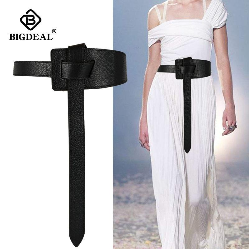 Belt For Women Designer Genuine Leather Jeans Strap  Female Belts Waistband Decorative Dress Coat Accessories Knot Girdle