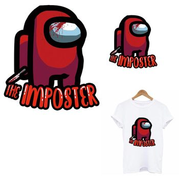 The Imposter Patches Iron On Transfer For Clothes DIY A-Level Washable Thermal Sticker On Kid T-Shirt Clothes Decoration Patch image
