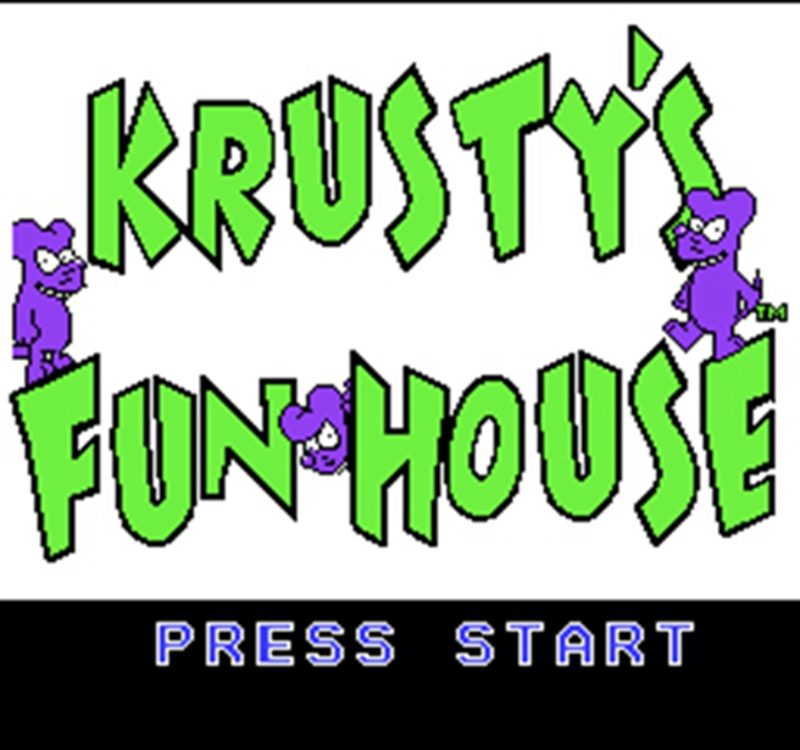 Krusty's Fun House 60 Pins English Version Game Cartridge for 8 Bit 60pin Game Console