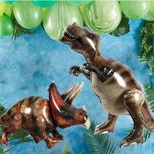 Wielki dinozaur urodziny balon foliowy balony lateksowe Dino balon powietrza Globos dzieci chłopcy dorośli zwierząt dżungli dekoracji