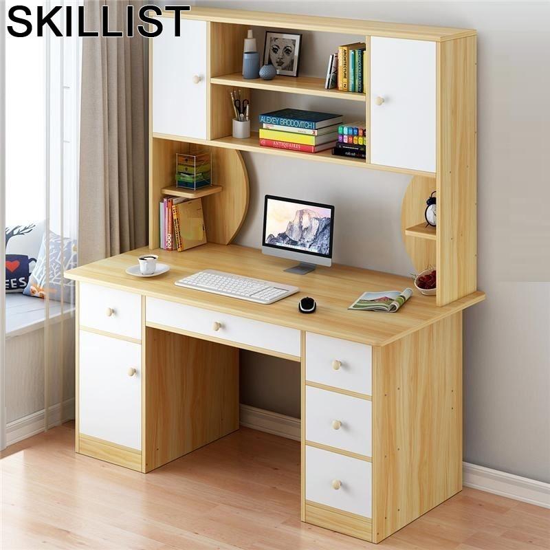Standing Schreibtisch Tafelkleed Office Furniture Escritorio Mueble Mesa Laptop Stand Computer Desk Tablo Table With Bookshelf