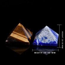 Naturalne oko tygrysa piramida cyjanitowa naprawa kryształ naturalny mineralny kamień Feng Shui zarządzanie aura prezent dom