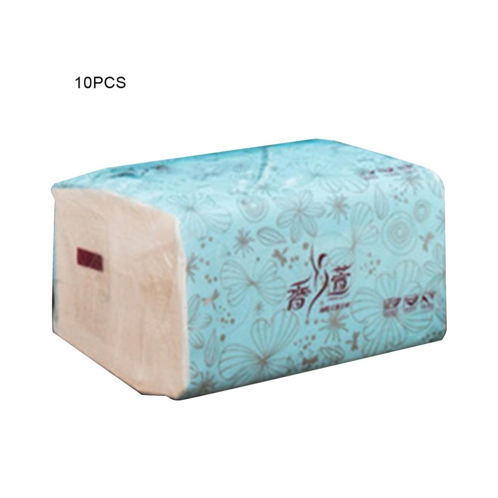 10 Bags Of Wettable Tissue Paper 3-Layer Thick Natural Wood Paper Towels Skin-Friendly For Baby Mother For Family Restaurant