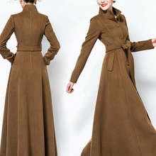 2020 Fashion Woolen Coat Female Autumn Winter Women's X Long Trench Coats New Te
