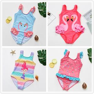 1~10Y Toddler Baby Girls Swimsuit one piece Children Swimwear Girls Swimming outfits High quality Kids Beach wear- 9021MIX
