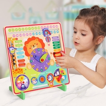 NEW Baby Wooden Busy Board Montessori Weather Season Time Cognitive Puzzles Child Early Learning Educational Figures Toy