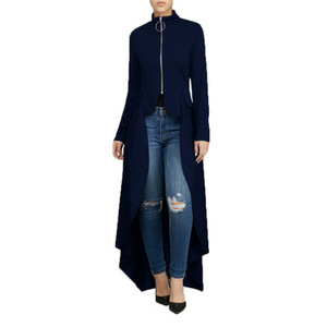 Image 5 - Muslim Blouse Women Fancy Zipper Abaya Dress with irregular swallow tails muslim shirt Hijab dress