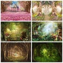 Yeele Весна цветок мечтательный фон с природным пейзажем волшебным