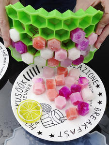 Mold Cubes Ice-Cube-Tray Whiskey Honeycomb Cold-Drink Party Cocktail Silicone 37