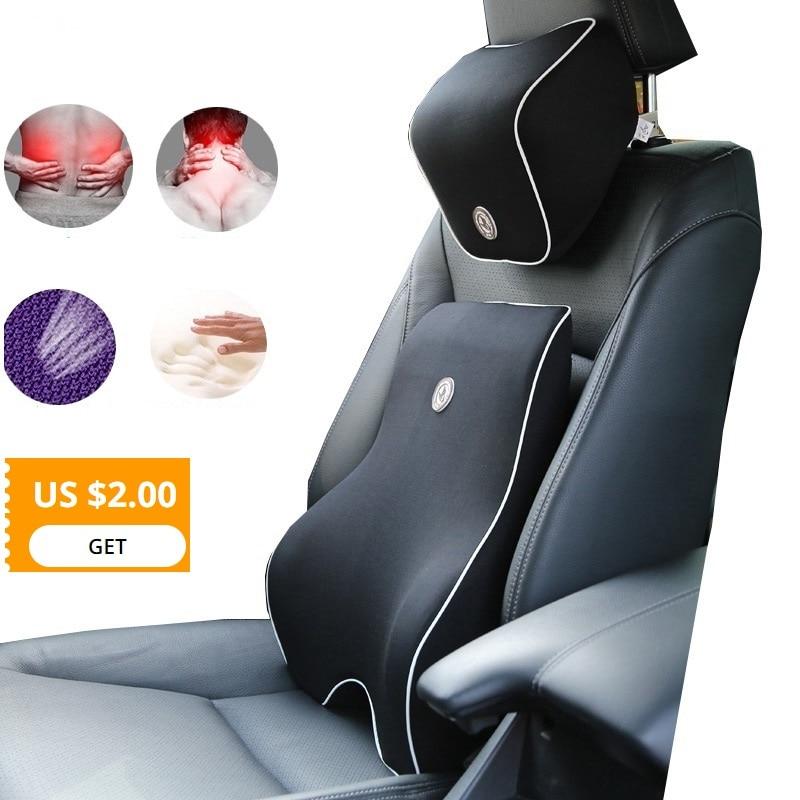 Almofada de carro travesseiro lombar apoio da cintura para assento de carro apoio pescoço travesseiro espuma memória mais baixa dor nas costas travesseiro